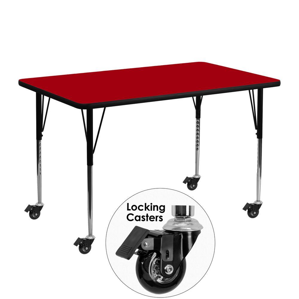 Flash Furniture Red Kids Table XUA2448RECRDTAC