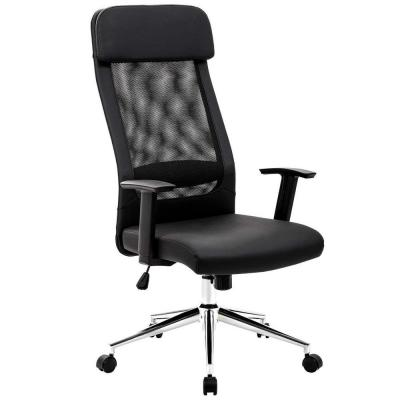Extra Black Removeable Headrest Mesh Office Chair Ergonomic Design with Back Lumbar Support