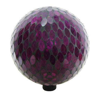 10 in. Purple Mosaic Gazing Globe