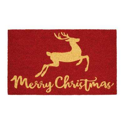 Christmas Wonder 18 in. x 30 in. Coir Door Mat
