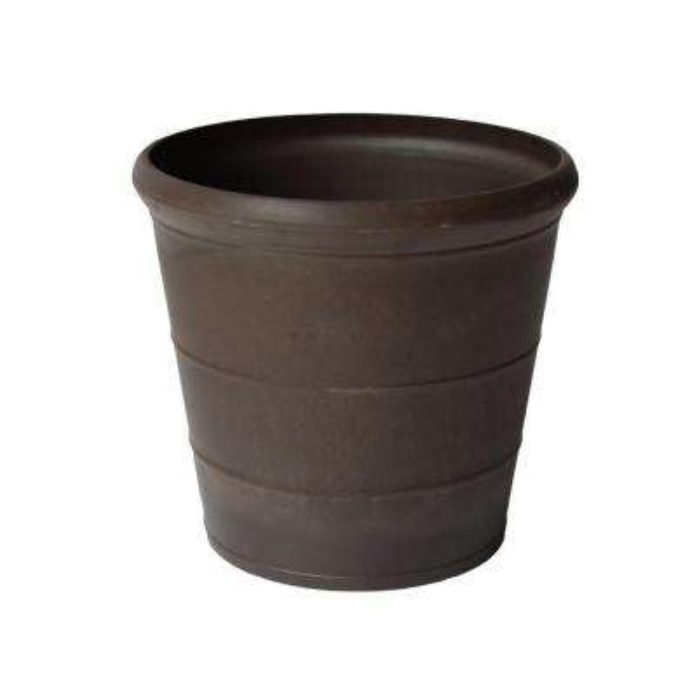 Basic Drop 11-1/2 in. x 10-1/2 in. Chocolate PSW Pot