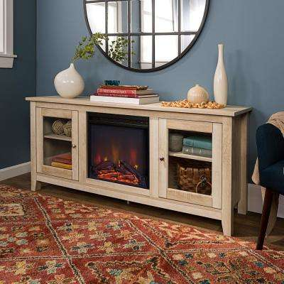 White Rustic Fireplace Tv Stands Electric Fireplaces