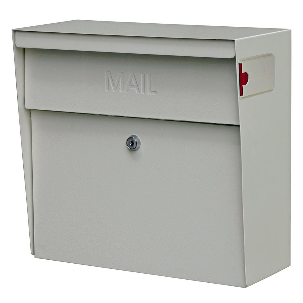 Metro Locking Wall-Mount Mailbox with High Security Patented Lock, White