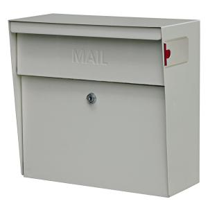 metro locking wallmount mailbox with high security patented lock white - Wall Mount Mailboxes