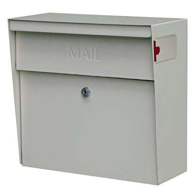 Metro Locking Wall-Mount Mailbox with High Security Patented Lock, White
