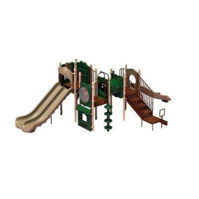 UPlay Today Carson's Canyon (Natural) Commercial Playset with Ground Spike