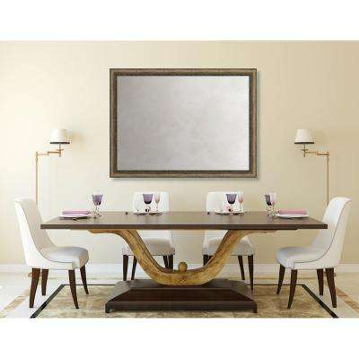 Richmond 34.375 in. x 46.375 in. Global Eclectic Framed Antique Mirror
