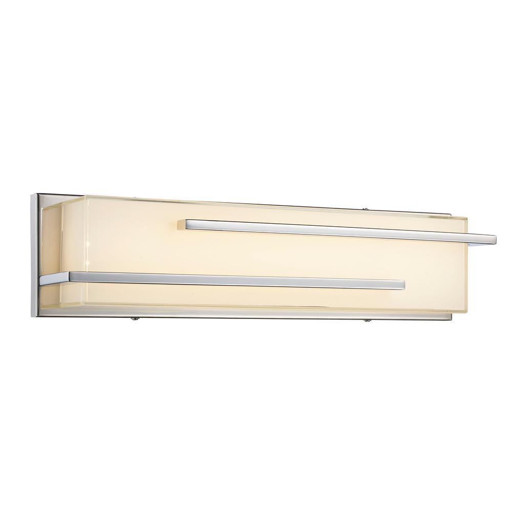 Skyline 10-Watt Polished Chrome Integrated LED Bath Light
