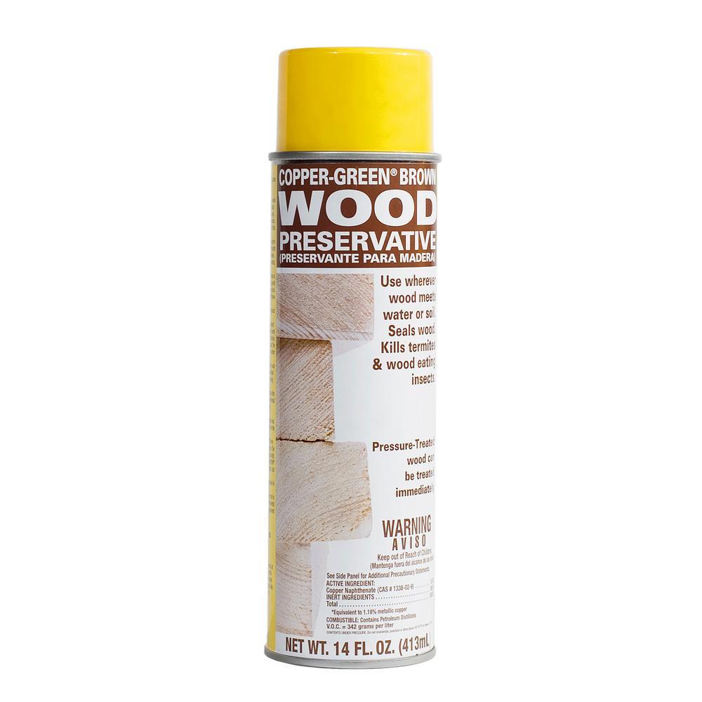 Copper Green Brown Wood Preservative 14 Fl Oz Aerosol Cb
