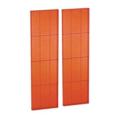 60 in. H x 16 in. W Pegboard Orange Styrene One sided Panel (2-Pieces per Box)