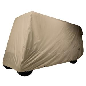 Classic Accessories Fairway Extra-Long Roof Golf Car Quick-Fit Cover Khaki by Classic Accessories