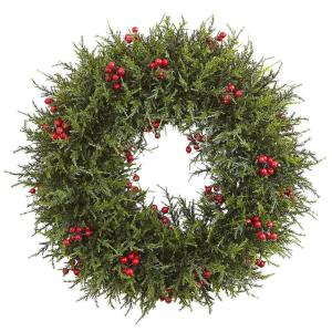 20 in. Cedar Berry Artificial Wreath