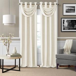 Elrene Brooke Natural Polyester Single Blackout Window Curtain Panel - 52 inch W x 95 inch L by Elrene