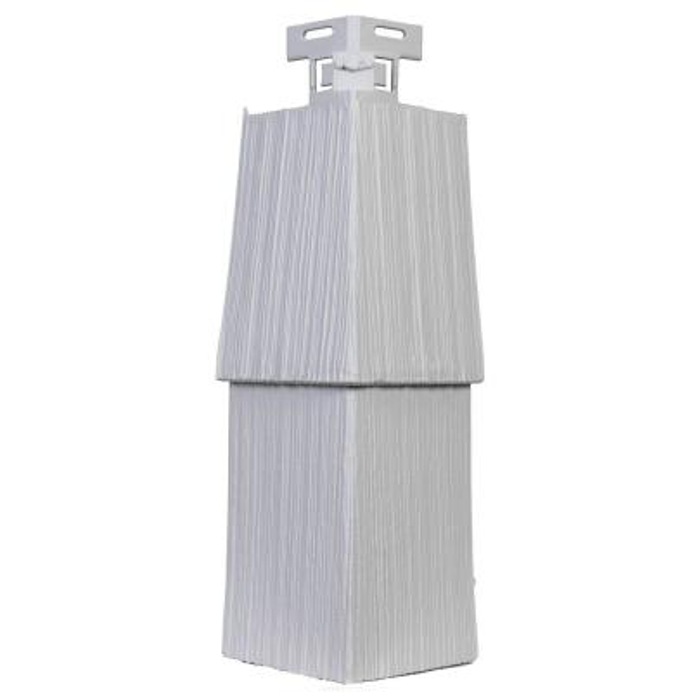 Shake RS - 4.5 in. x 14.63 in. Rough Sawn Shake in Heritage Gray - Corner (5.21 lin. ft. per Box) Trim Plastic Siding