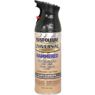 12 oz. All Surface Hammered Black Spray Paint and Primer in One (6-Pack)