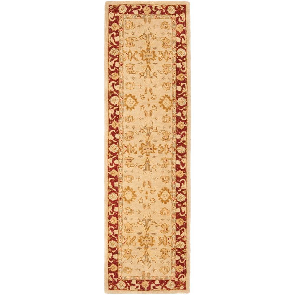 Anatolia Ivory/Red 2 ft. 3 in. x 10 ft. Runner