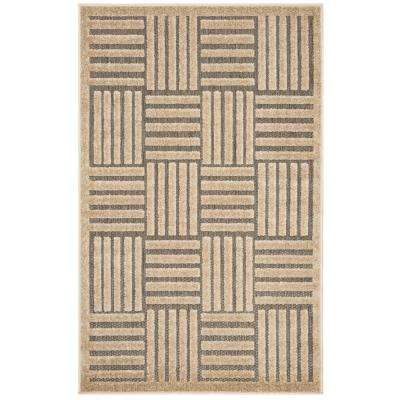Cottage Gray/Beige 3 ft. 3 in. x 5 ft. 3 in. Indoor/Outdoor Area Rug