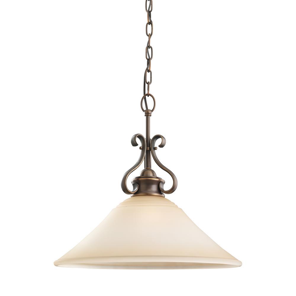 Parkview 1-Light Russet Bronze Pendant with LED Bulb