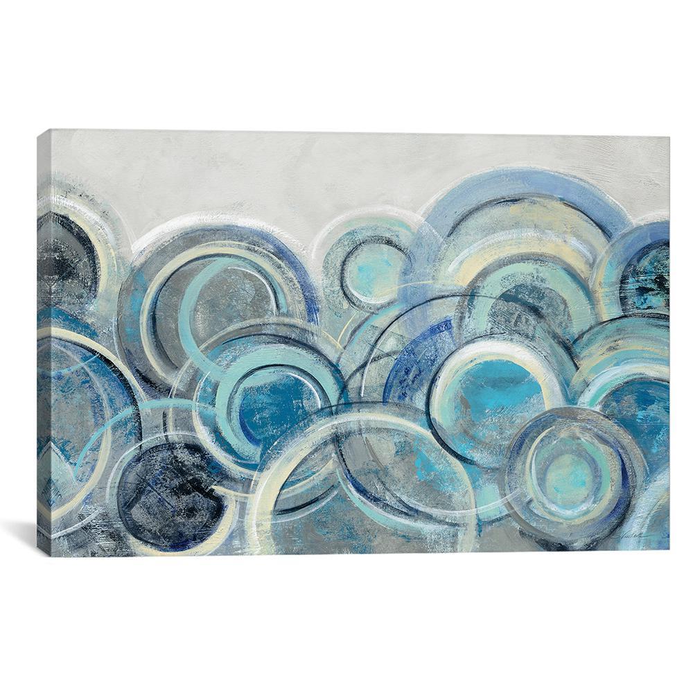 """""""Variation Blue Grey"""" by Silvia Vassileva Canvas Wall Art"""