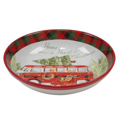 Home For Christmas Multicolor Pasta Bowl