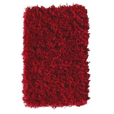 Ultimate Shag Red 4 ft. x 6 ft. Area Rug