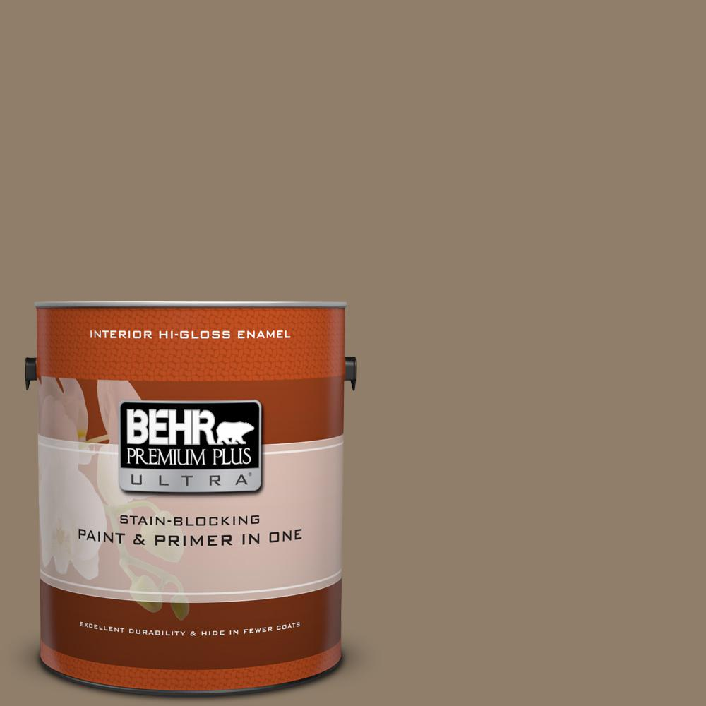 1 gal. #HDC-NT-11 Sandalwood Tan Hi-Gloss Enamel Interior Paint