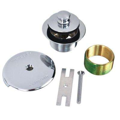 1.625 in. Overall Diameter x 16 Threads x 1.25 in. Lift and Turn Bathtub Stopper with Bushing Trim in Chrome Plated