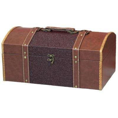 Brown Family Room Magazine Treasure Chest