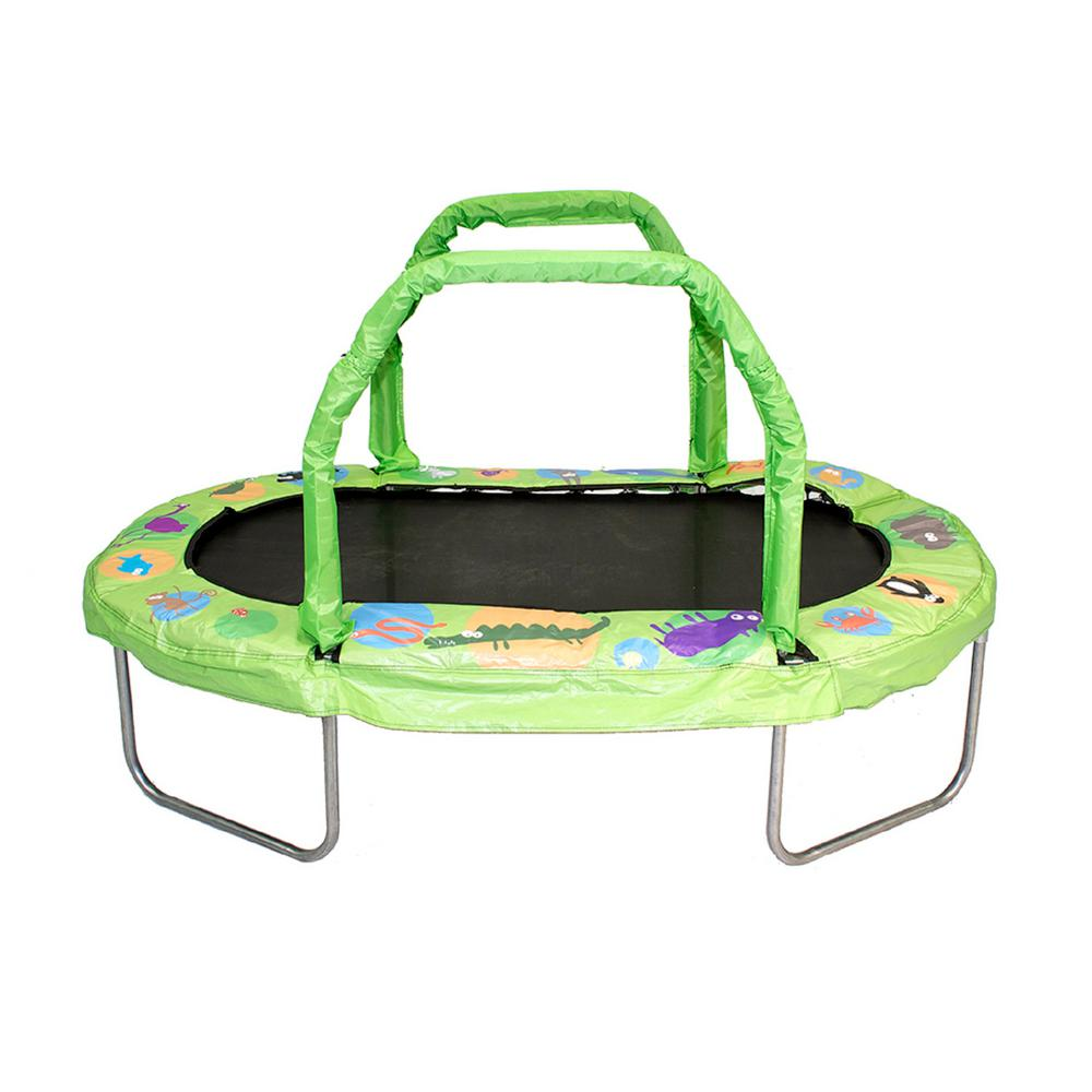Jumpking 38 in. by 66 in. Green Mini Oval Trampoline