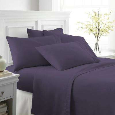 Performance Purple Queen 6-Piece Bed Sheet Set