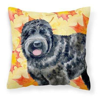 14 in. x 14 in. Multi-Color Lumbar Outdoor Throw Pillow Black Russian Terrier Fall