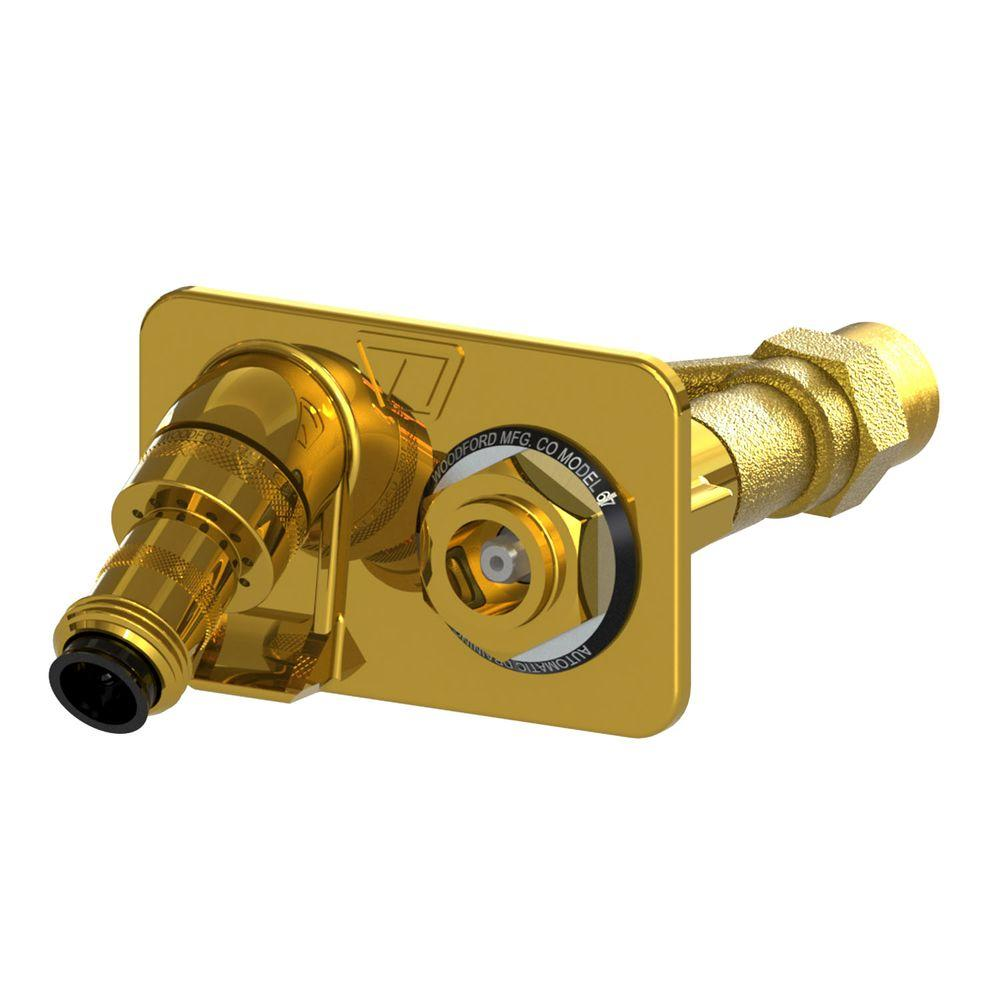 3/4 in. FPT x Close Coupled Freezeless Polished Brass Anti-Siphon Wall