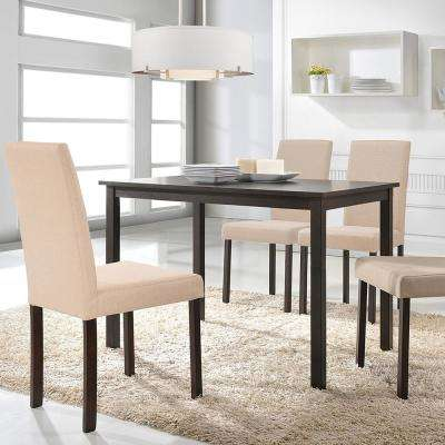 Andrew 5-Piece Beige Fabric Upholstered Dining Set