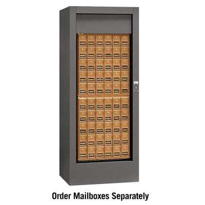 3150 Series Private Brass Style Rotary Mail Center in Slate