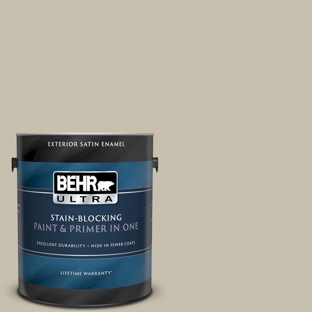 Behr Ultra 1 Gal Bxc 56 Stone Creek Satin Enamel Exterior Paint And Primer In One 985401 The Home Depot