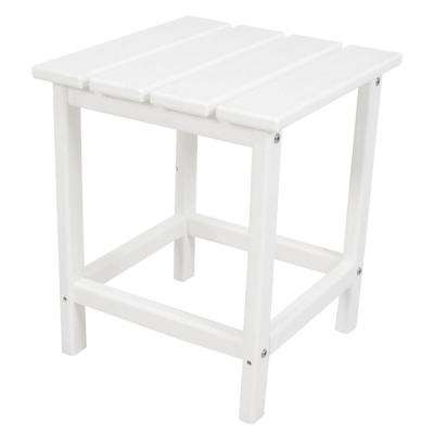 Long Island 18 in. White Patio Side Table