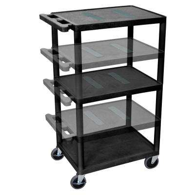 Endura Multi Height 24 in. A/V Cart in Black