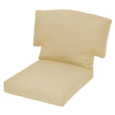Charlottetown CushionGuard Oatmeal Replacement Outdoor Lounge Chair Cushion