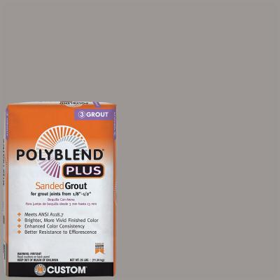 Polyblend Plus #165 Delorean Gray 25 lb. Sanded Grout