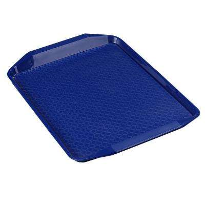 12 in. x 17 in. Polypropylene Serving/Food Court Tray with Handle in Blue (Case of 24)