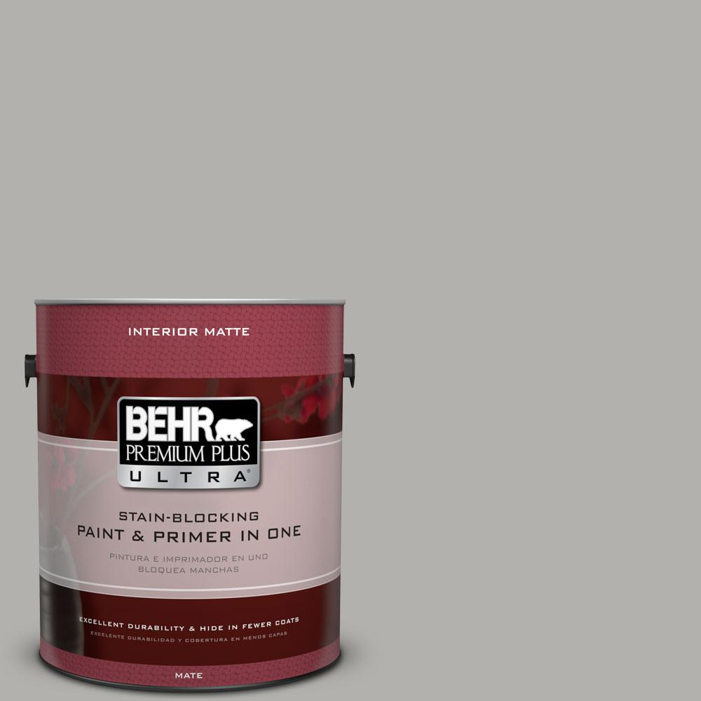1 gal. #BXC-25 Colonnade Gray Matte Interior Paint