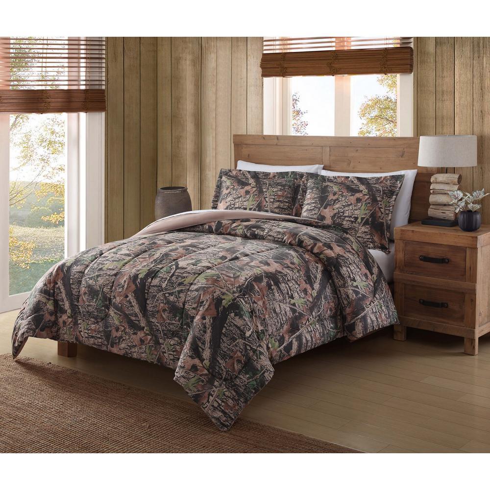 Mount Monadnock 3-Piece Camo Full and Queen Comforter Set