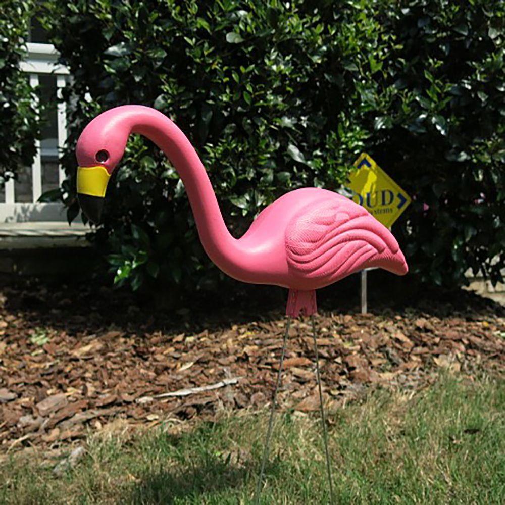 Pink Flamingos Yard Decor 27 in. Colorful Birds Outdoor Garden Patio ...