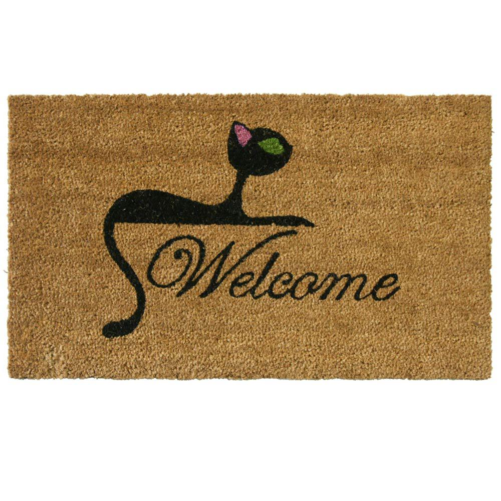 Rubber cal kitty cat 18 in x 30 in welcome mat 10 106 for 106 door cards