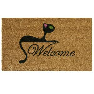 Kitty Cat 18 in. x 30 in. Welcome Mat