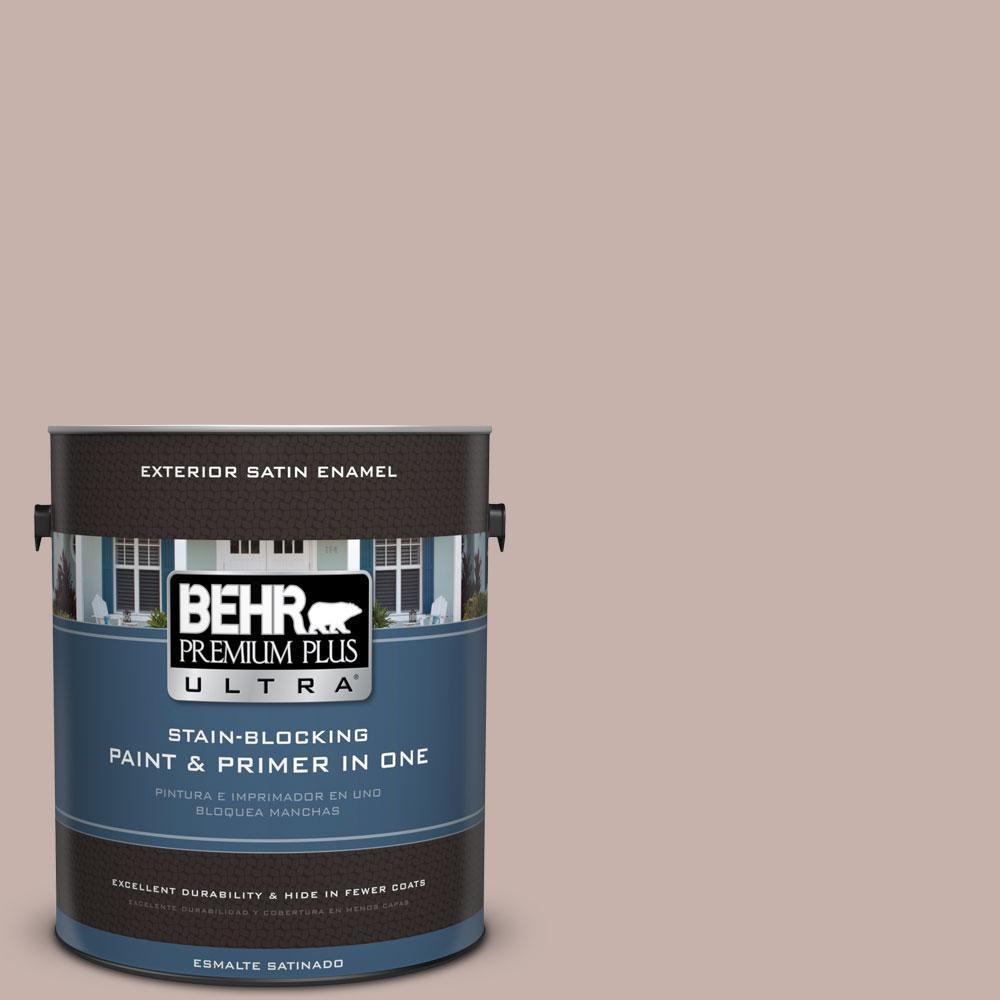 BEHR Premium Plus Ultra 1-gal. #PPU17-10 Mauvette Satin Enamel Exterior Paint