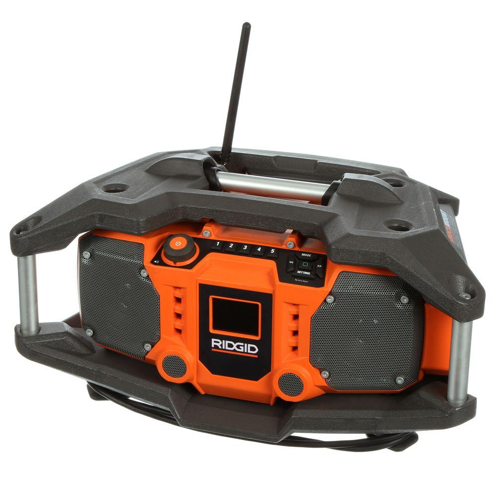 RIDGID X4 18-Volt Cordless Jobsite Radio with ShockMount Technology