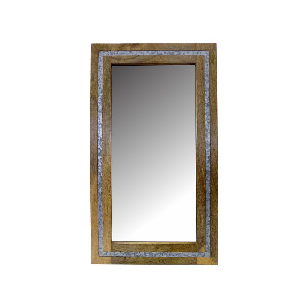 RASHI ENTERPRISES Rectangular Wood/Galvanized with Mirror was $89.0 now $43.83 (51.0% off)