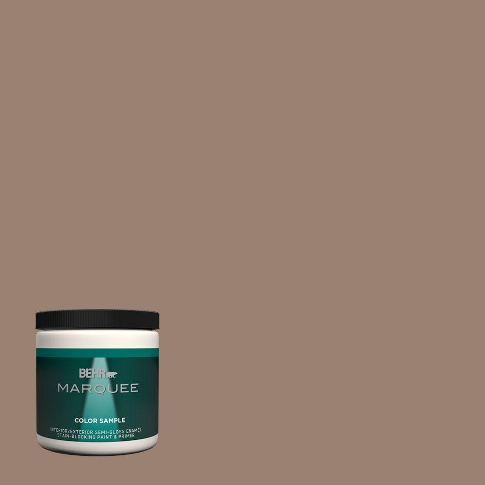 N190 5 Frontier Brown One Coat Hide Semi Gloss Enamel Interior Exterior Paint And Primer In Sample