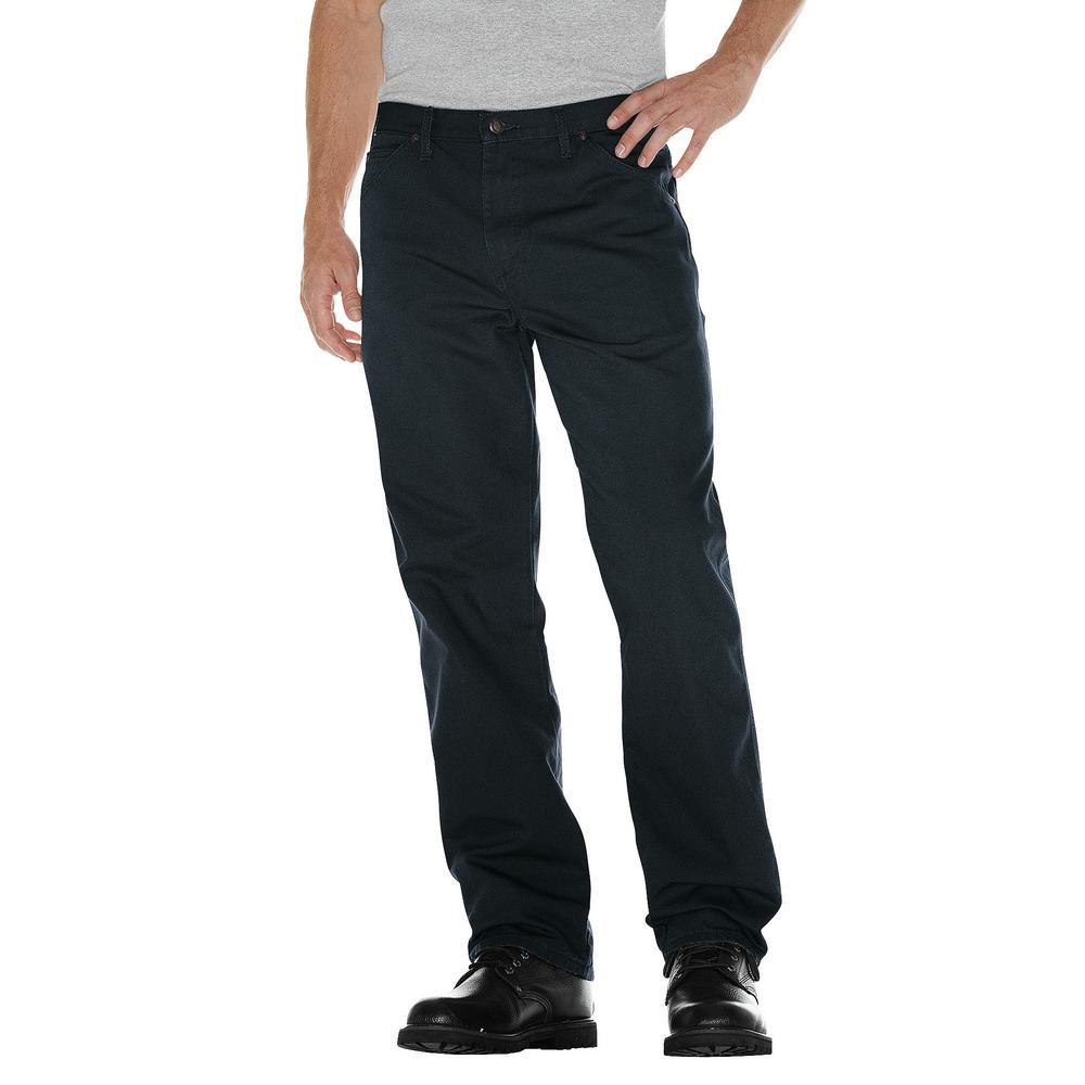 491c471dee6327 Dickies Men's Rinsed Slate Relaxed Fit Straight Leg Carpenter Duck Jean